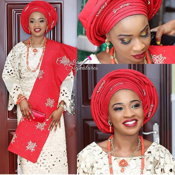 Nigerian Wedding Trend - Lace Iro & Buba LoveweddingsNG