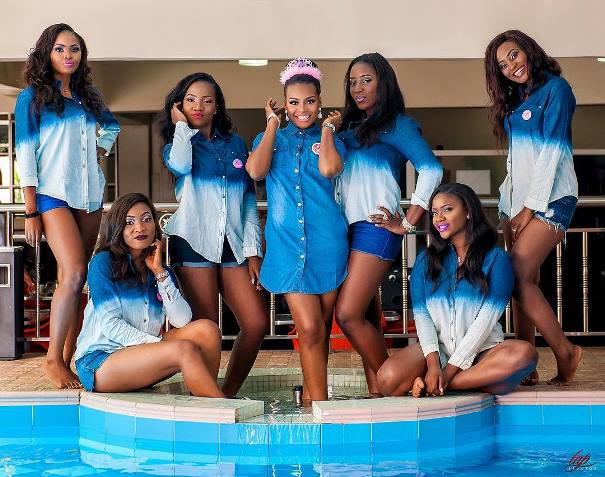 Nigerian Wedding Trends 2015 - Bride and Bridesmaids in Denim LoveweddingsNG Tap Studios