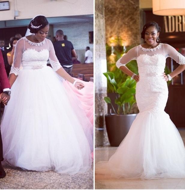 Nigerian Wedding Trends 2015 - Two in One Gown April by Kunbi LoveweddingsNG