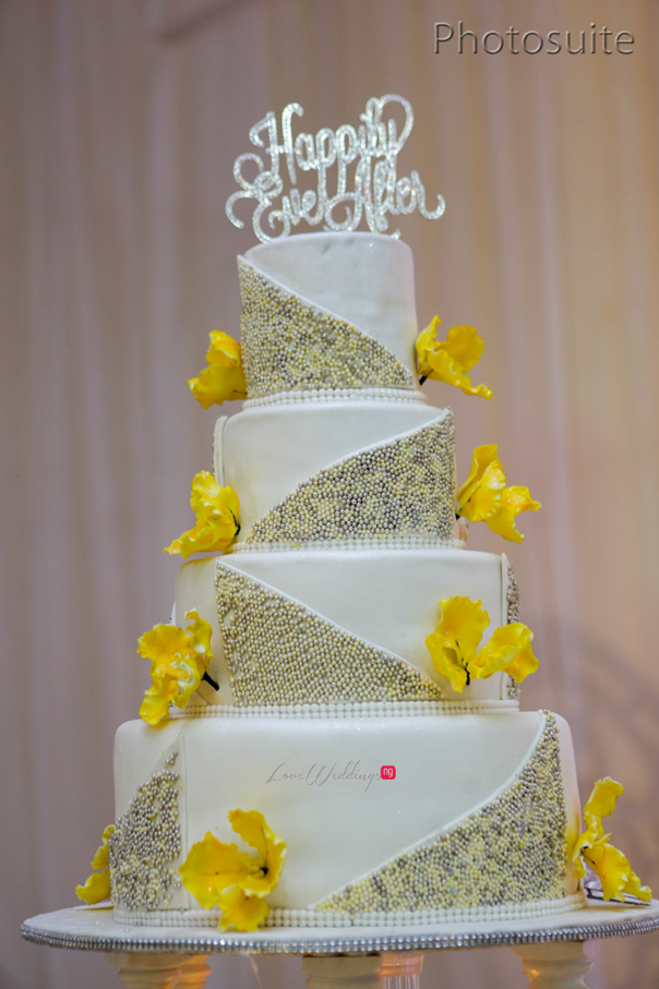 Nigerian White Wedding Cake - Uti and Erasmus Photosuite LoveweddingsNG 1