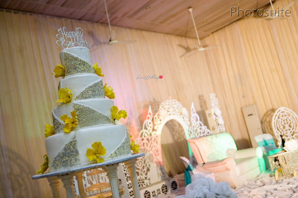 Nigerian White Wedding Cake - Uti and Erasmus Photosuite LoveweddingsNG 2