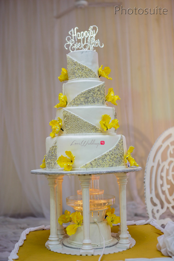 Nigerian White Wedding Cake - Uti and Erasmus Photosuite LoveweddingsNG