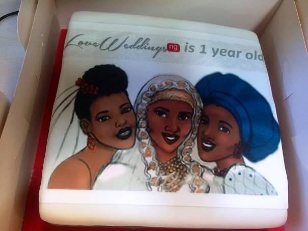 LoveweddingsNG Anniversary Cake
