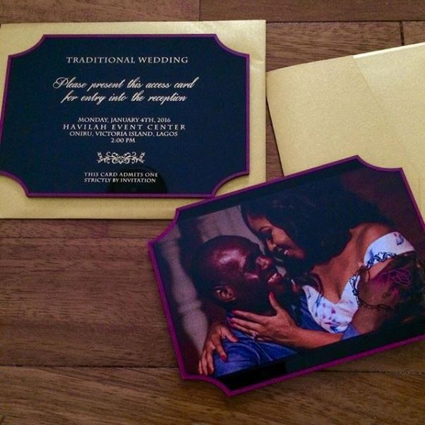 Nigerian Wedding #DoubleO2016 LoveweddingsNG Reception Access Cards