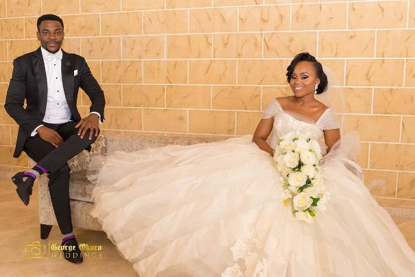 Ebuka Obi - Uchendu Cynthia Obianodo White Wedding LoveweddingsNG - bride and groom 3