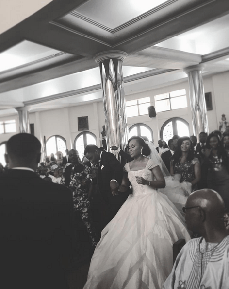 Ebuka Obi - Uchendu Cynthia Obianodo White Wedding LoveweddingsNG bride and groom