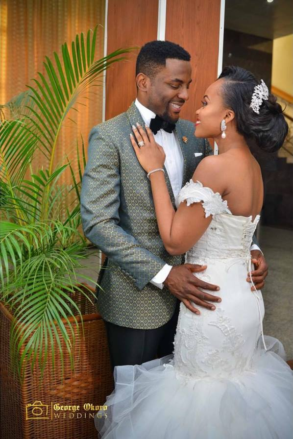 Ebuka Obi - Uchendu Cynthia Obianodo White Wedding LoveweddingsNG - bride and groom 6
