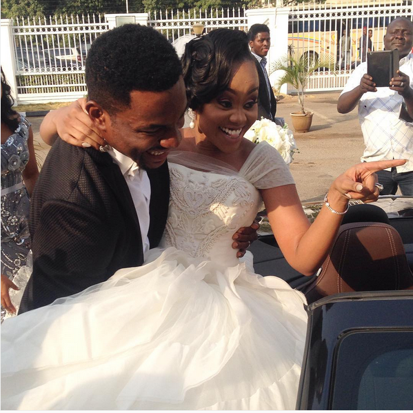 Ebuka Obi - Uchendu Cynthia Obianodo White Wedding LoveweddingsNG - bride and groom