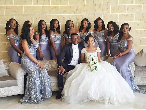 Ebuka Obi - Uchendu Cynthia Obianodo White Wedding LoveweddingsNG bridesmaids