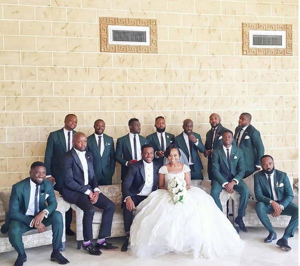 Ebuka Obi - Uchendu Cynthia Obianodo White Wedding - groomsmen LoveweddingsNG