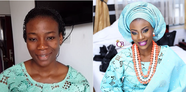 Nigerian Bridal Makeover - Before and After - Beauty by Queen LoveweddingsNG