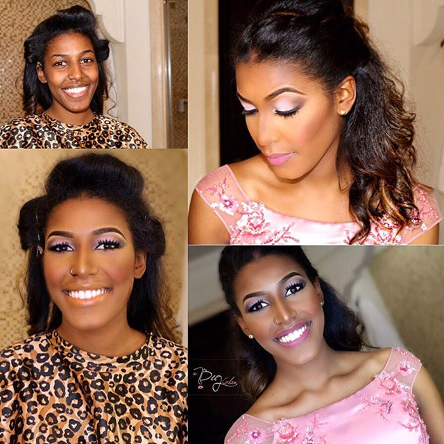 Nigerian Bridal Makeover - Before and After - Beezglam LoveweddingsNG