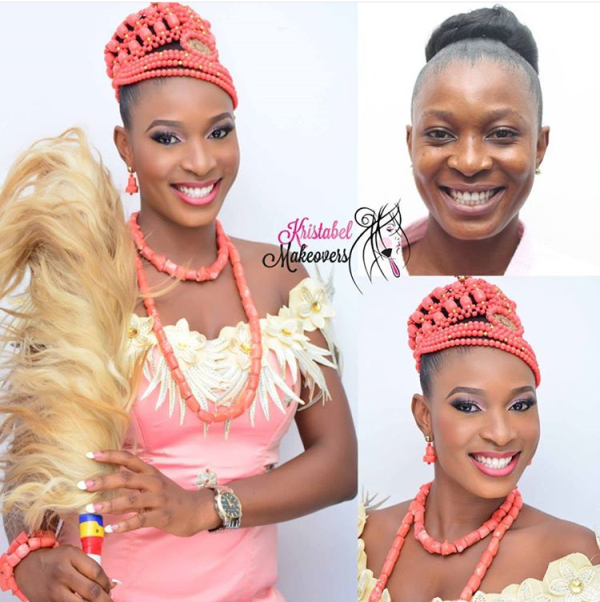 Nigerian Bridal Makeover - Before and After - Kristabel Makeovers LoveweddingsNG (2)