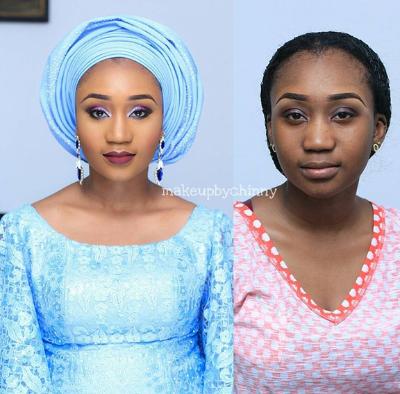 Nigerian Bridal Makeover - Before and After - Makeup by Chinny LoveweddingsNG