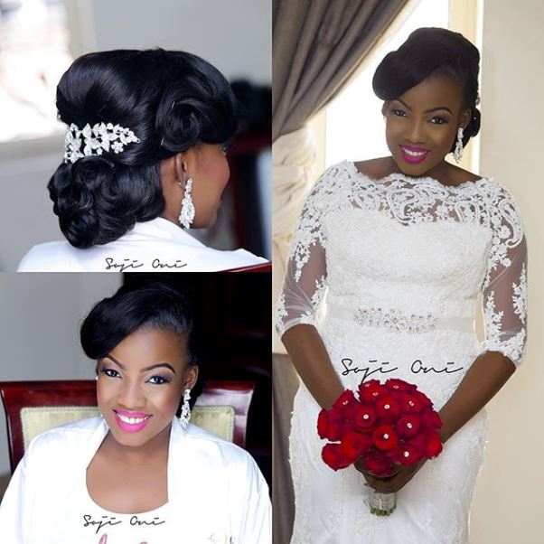 Nigerian Bride Bolu Boludotman2015 LoveweddingsNG Hair by Sleame 1