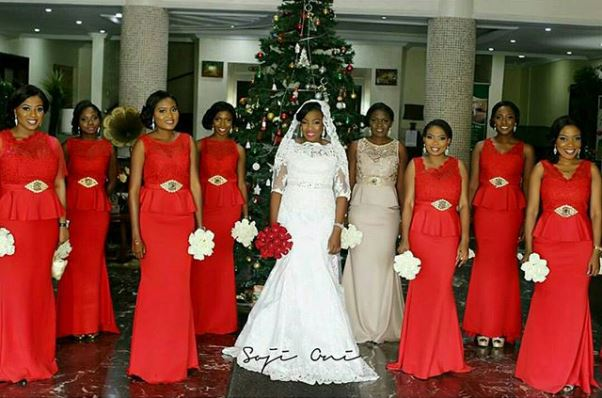 Nigerian Bride and Bridesmaids Boludotman2015 LoveweddingsNG Soji Oni