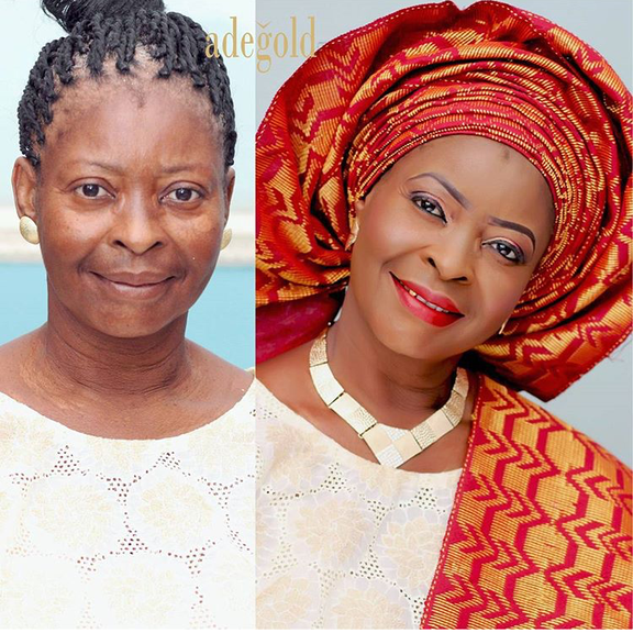 Nigerian Makeovers - Before and After Adegold MUA LoveweddingsNG