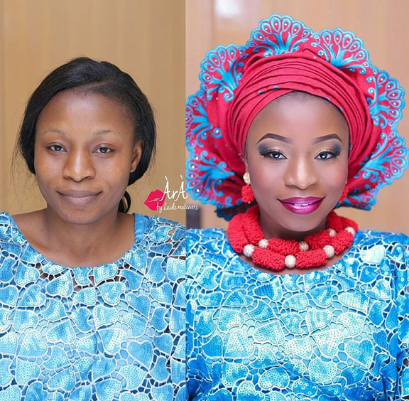 Nigerian Makeovers - Before and After Ara Bridals LoveweddingsNG