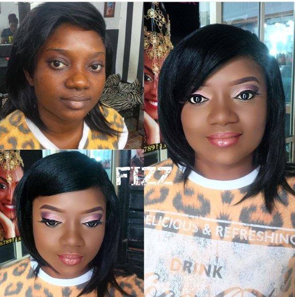 Nigerian Makeovers - Before and After Fizz Glam LoveweddingsNG