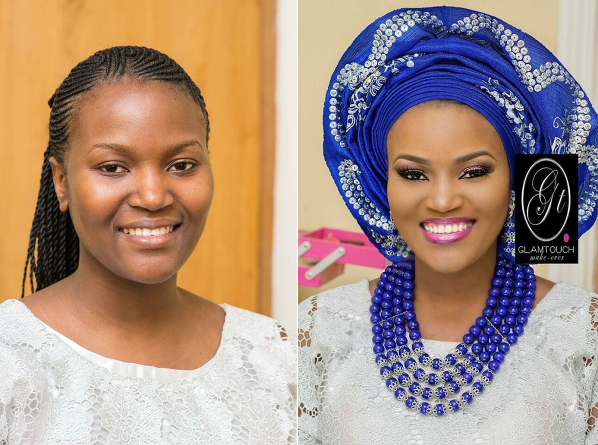 Nigerian Makeovers - Before and After Glamtouch Makeovers LoveweddingsNG