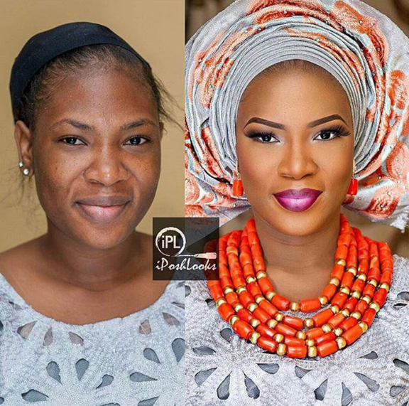 Nigerian Makeovers - Before and After IPosh Looks LoveweddingsNG - 1