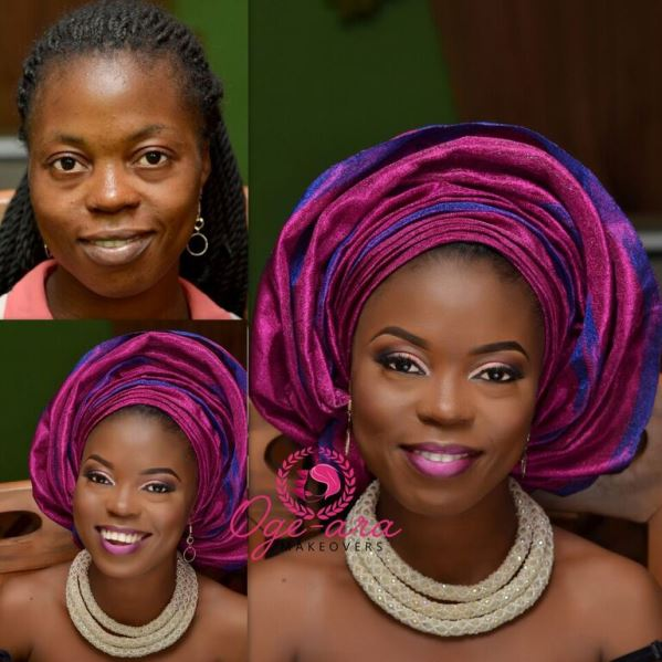 Nigerian Makeovers - Before and After Oge Ara Makeovers LoveweddingsNG