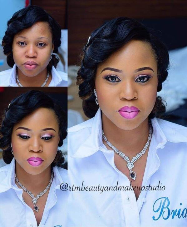 Nigerian Makeovers - Before and After RTM Beauty and Makeup Studio LoveweddingsNG