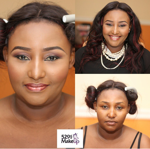 Nigerian Makeovers - Before and After Stephanie 5291 MUA LoveweddingsNG