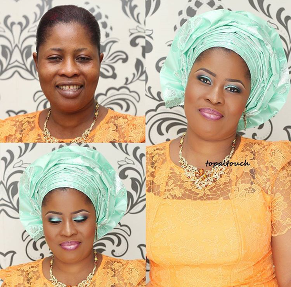 Nigerian Makeovers - Before and After Topal Touch LoveweddingsNG