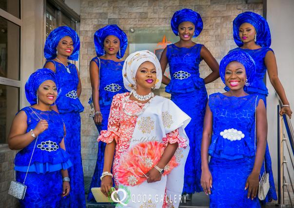 Nigerian Traditional Bride and friends - Teju Yinka LoveweddingsNG