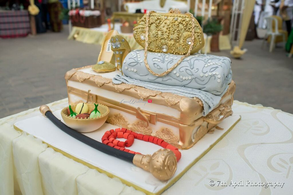 Nigerian Traditional Wedding - Afaa and Percy 7th April Photography LoveweddingsNG cake