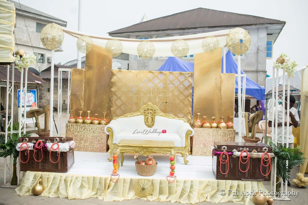 Nigerian Traditional Wedding - Afaa and Percy 7th April Photography LoveweddingsNG decor stage
