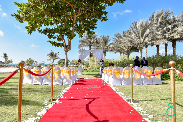 Nigerian Wedding in Dubai Aisle LoveweddingsNG Save the Date 1
