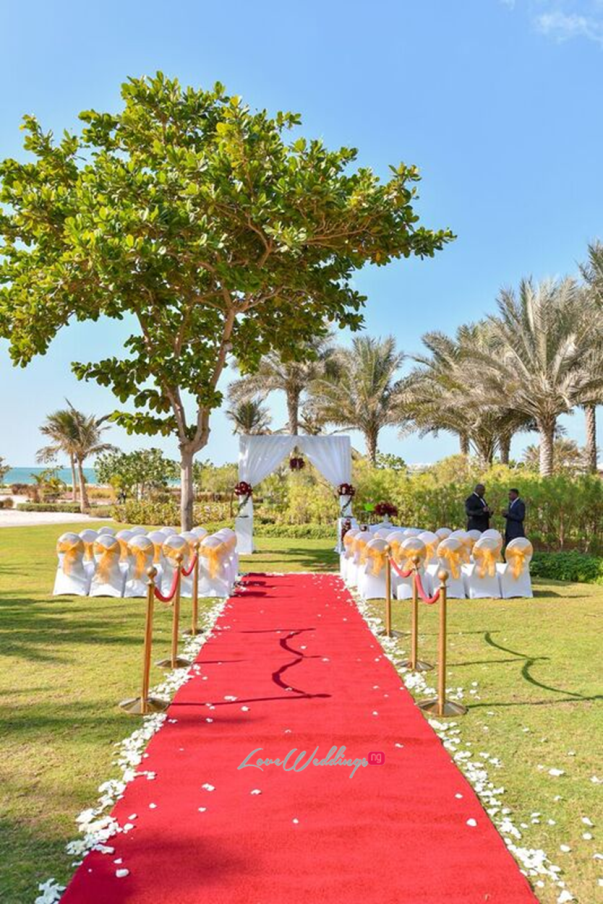 Nigerian Wedding in Dubai Aisle LoveweddingsNG Save the Date
