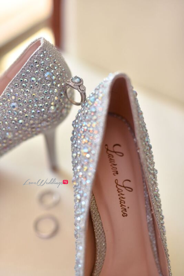 Nigerian Wedding in Dubai Bridal Shoes LoveweddingsNG Save the Date