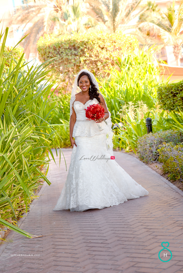 Nigerian Wedding in Dubai Bride LoveweddingsNG Save the Date 3