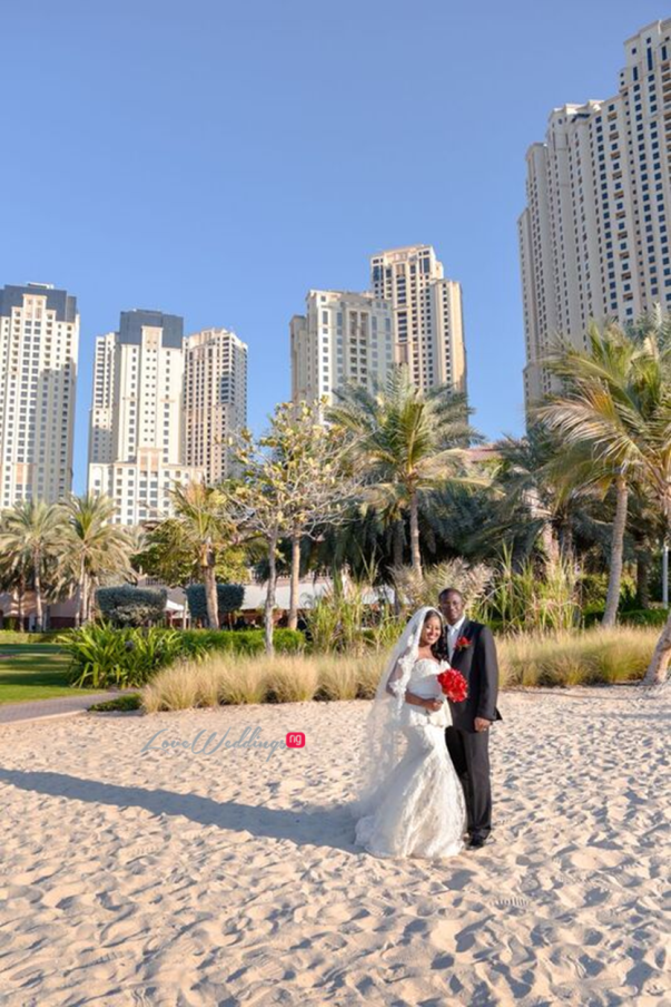 Nigerian Wedding in Dubai Bride and Groom LoveweddingsNG Save the Date