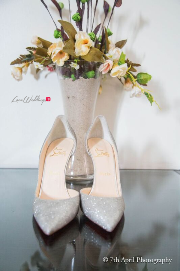 Nigerian White Wedding - Afaa and Percy - 7th April Photography LoveweddingsNG shoes