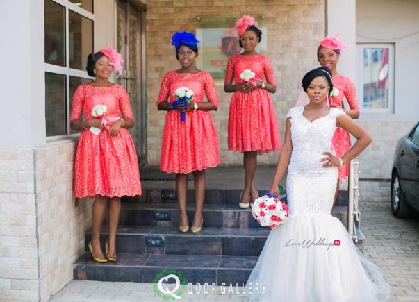Nigerian White Wedding - Bride and Bridesmaids Solange Pose - Teju Yinka LoveweddingsNG