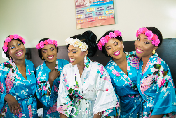 Nigerian White Wedding Bride and bridesmaids - Teju Yinka LoveweddingsNG 1