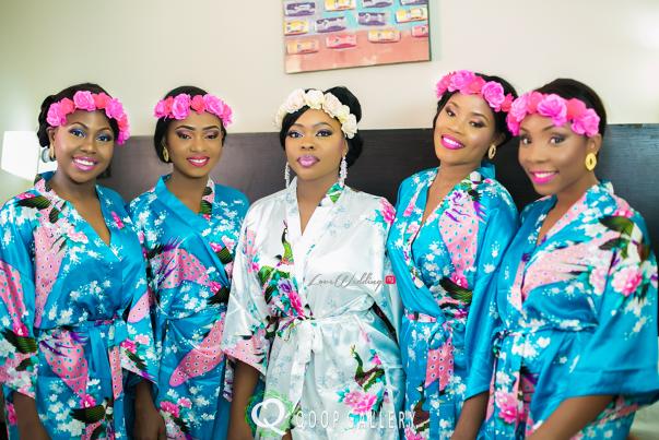 Nigerian White Wedding Bride and bridesmaids - Teju Yinka LoveweddingsNG