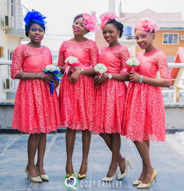 Nigerian White Wedding Bridesmaids - Teju Yinka LoveweddingsNG