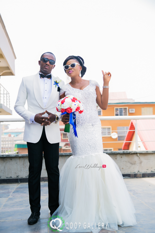 Nigerian White Wedding Couple - Teju Yinka LoveweddingsNG 1
