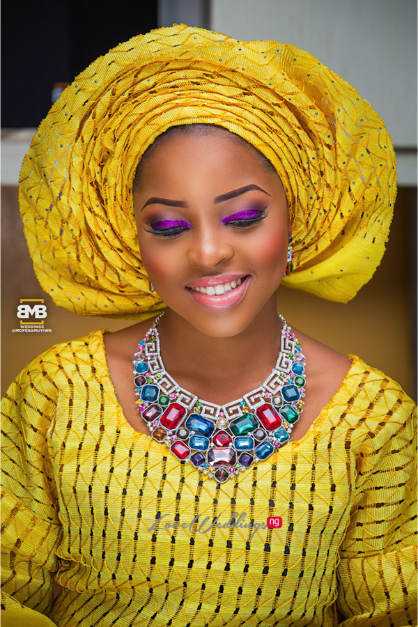Yellow Traditional Bridal Inspiration BMB Photography LoveweddingsNG