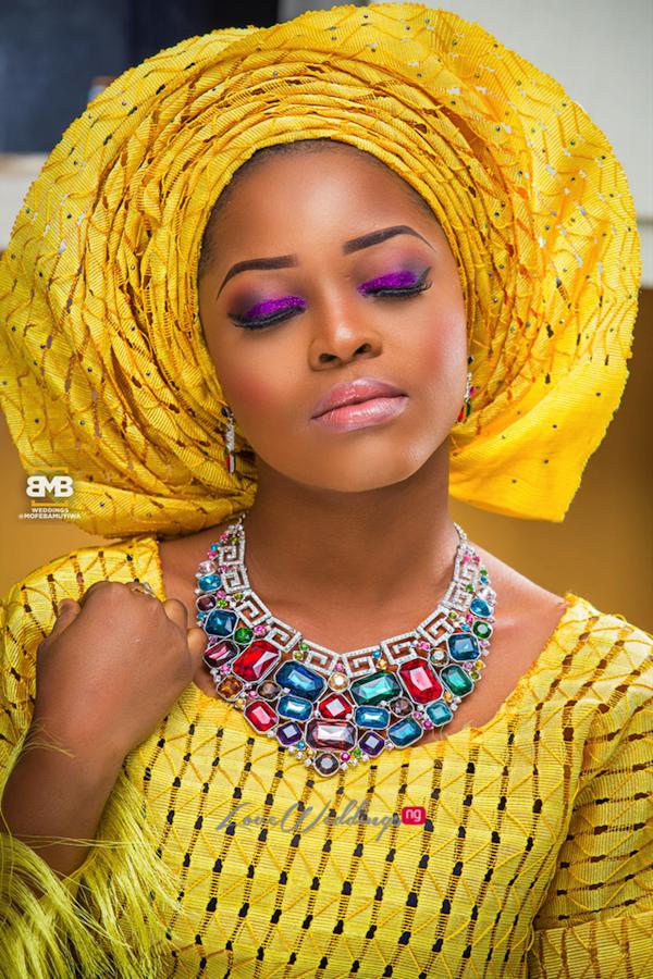 Yellow Traditional Bridal Inspiration BMB Photography LoveweddingsNG1