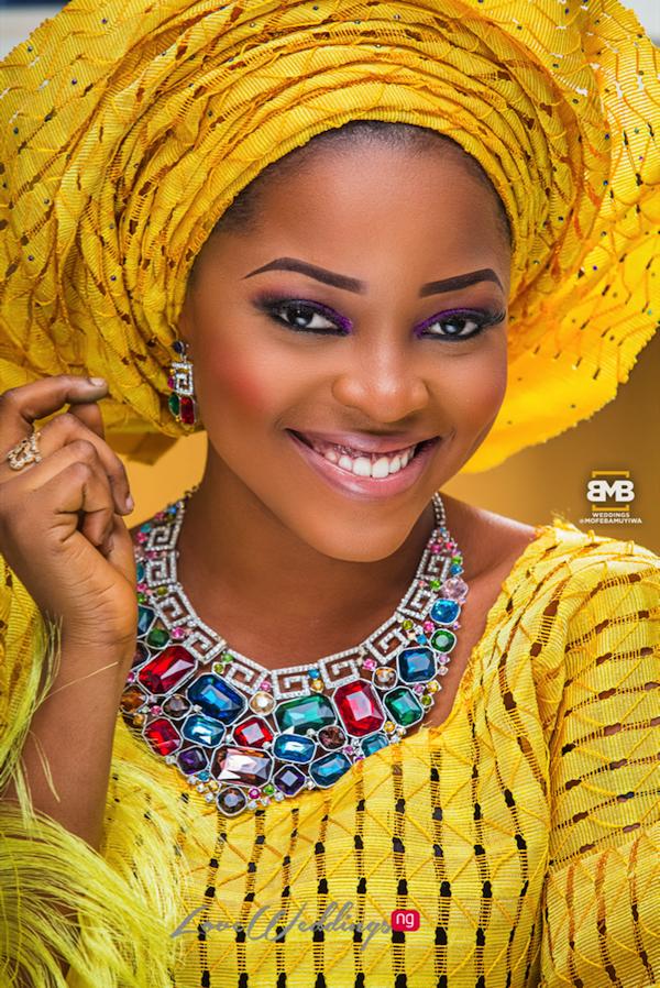 Yellow Traditional Bridal Inspiration BMB Photography LoveweddingsNG10