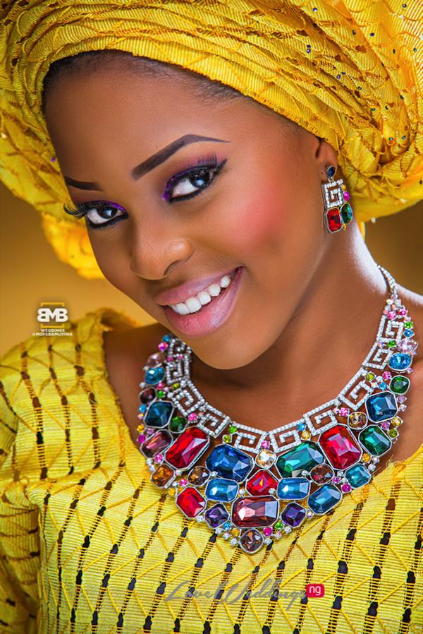 Yellow Traditional Bridal Inspiration BMB Photography LoveweddingsNG11