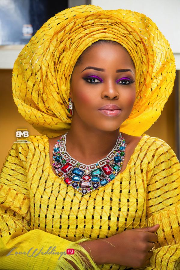 Yellow Traditional Bridal Inspiration BMB Photography LoveweddingsNG12