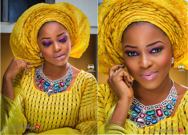 Burst of Yellow Inspired Traditional Bridal Look | BMB Photography