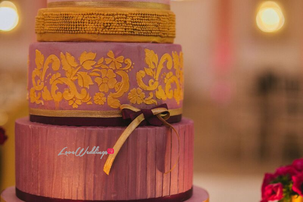 Gold Opulence Alegrar Events Wedding Cake LoveweddingsNG 3